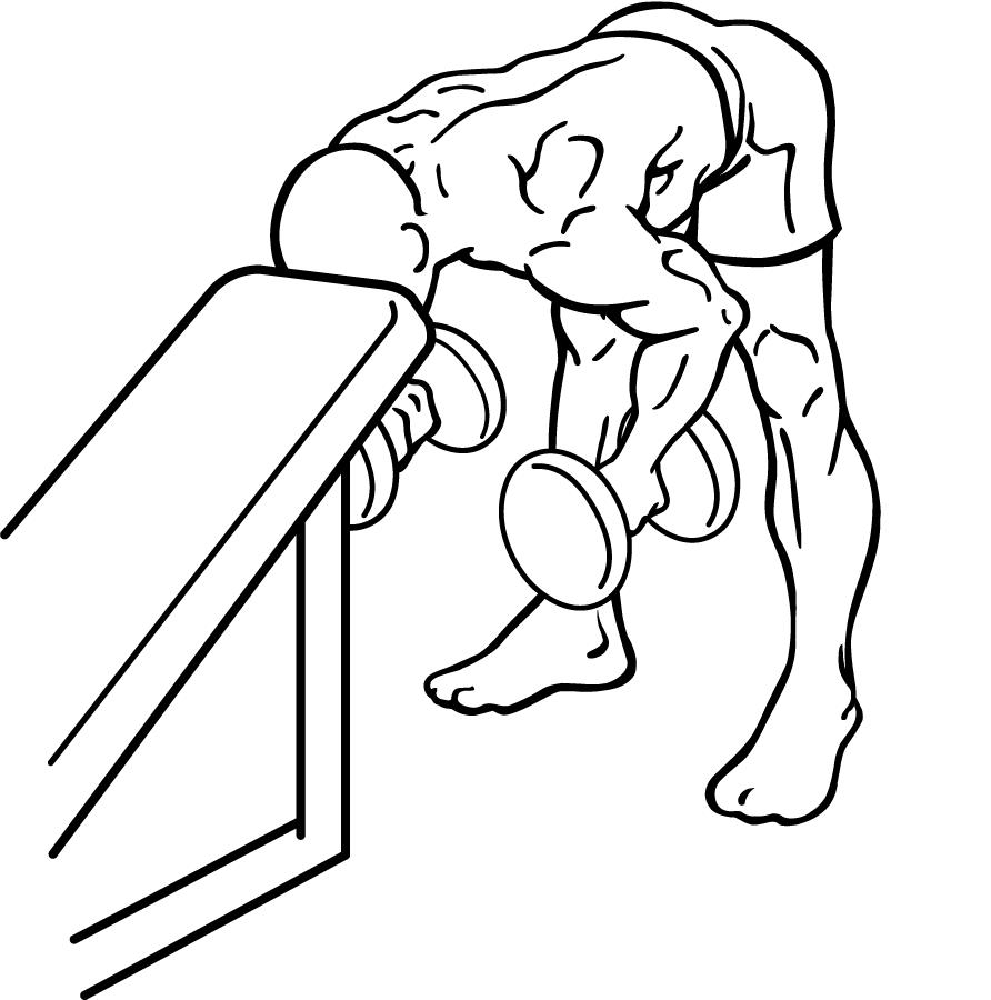 Schouderoefening met dumbells